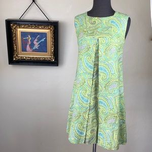 Vintage 60's Paisley Mini Dress